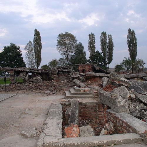 Auschwitz Birkenau crematorium
