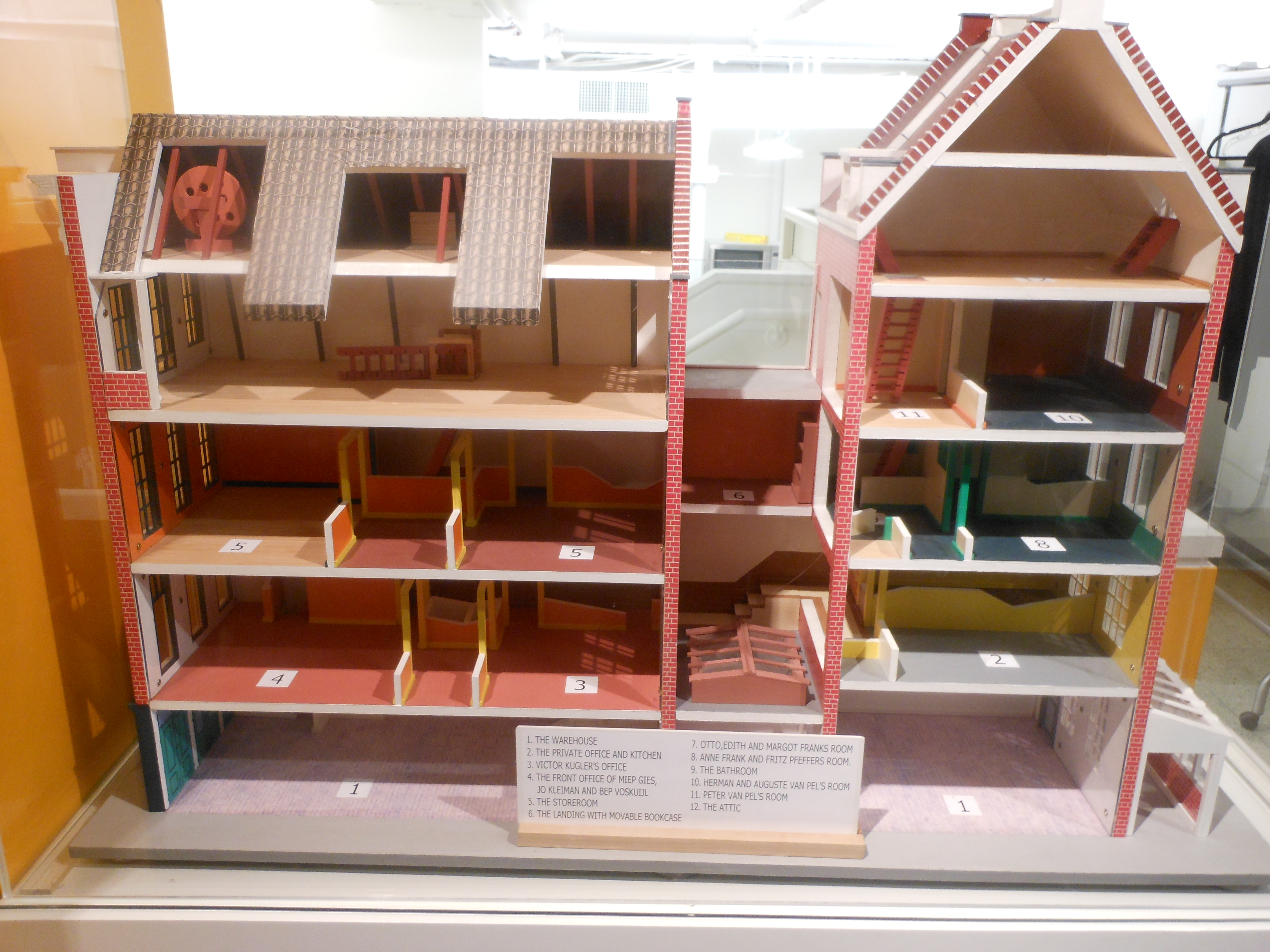 Anne Frank Model House, by Alexisrael [Public domain], via Wikimedia Commons. Creative Commons Attribution-Share Alike 3.0 Unported license. Wikimedia commons.