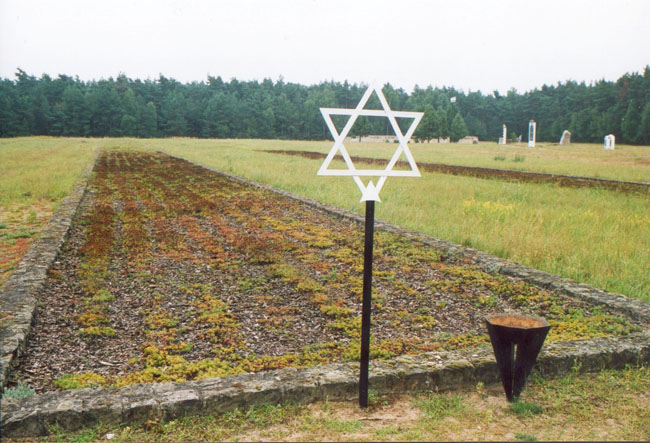 A mass grave in the former extermination camp of Chełmno nad Nerem, Poland.