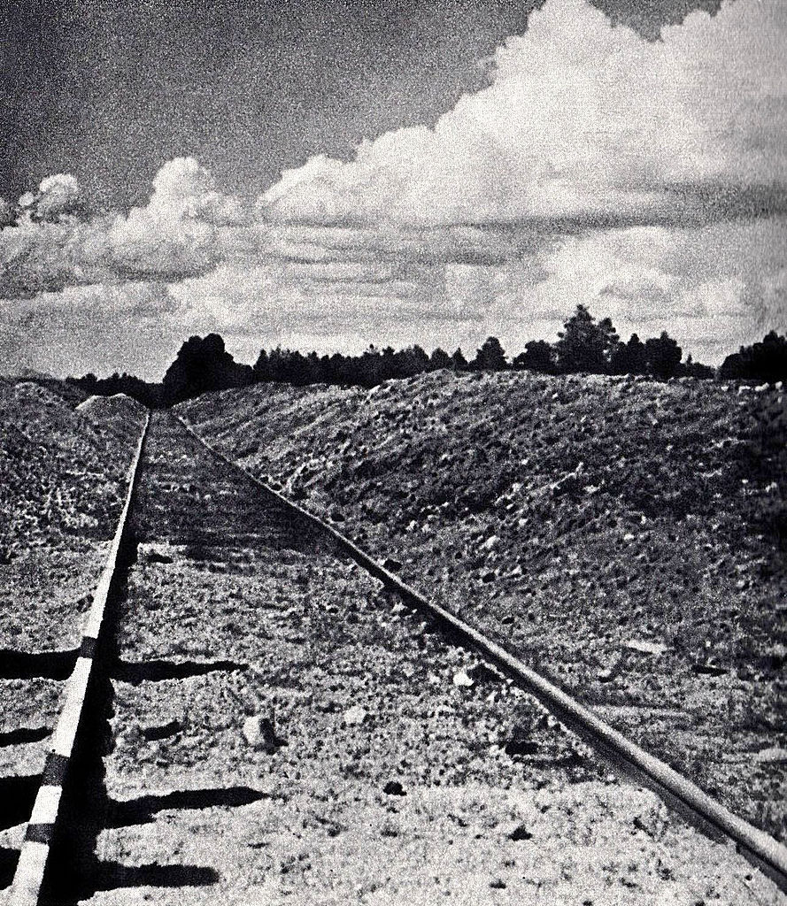 Railway line to the gravel quarry at Treblinka I