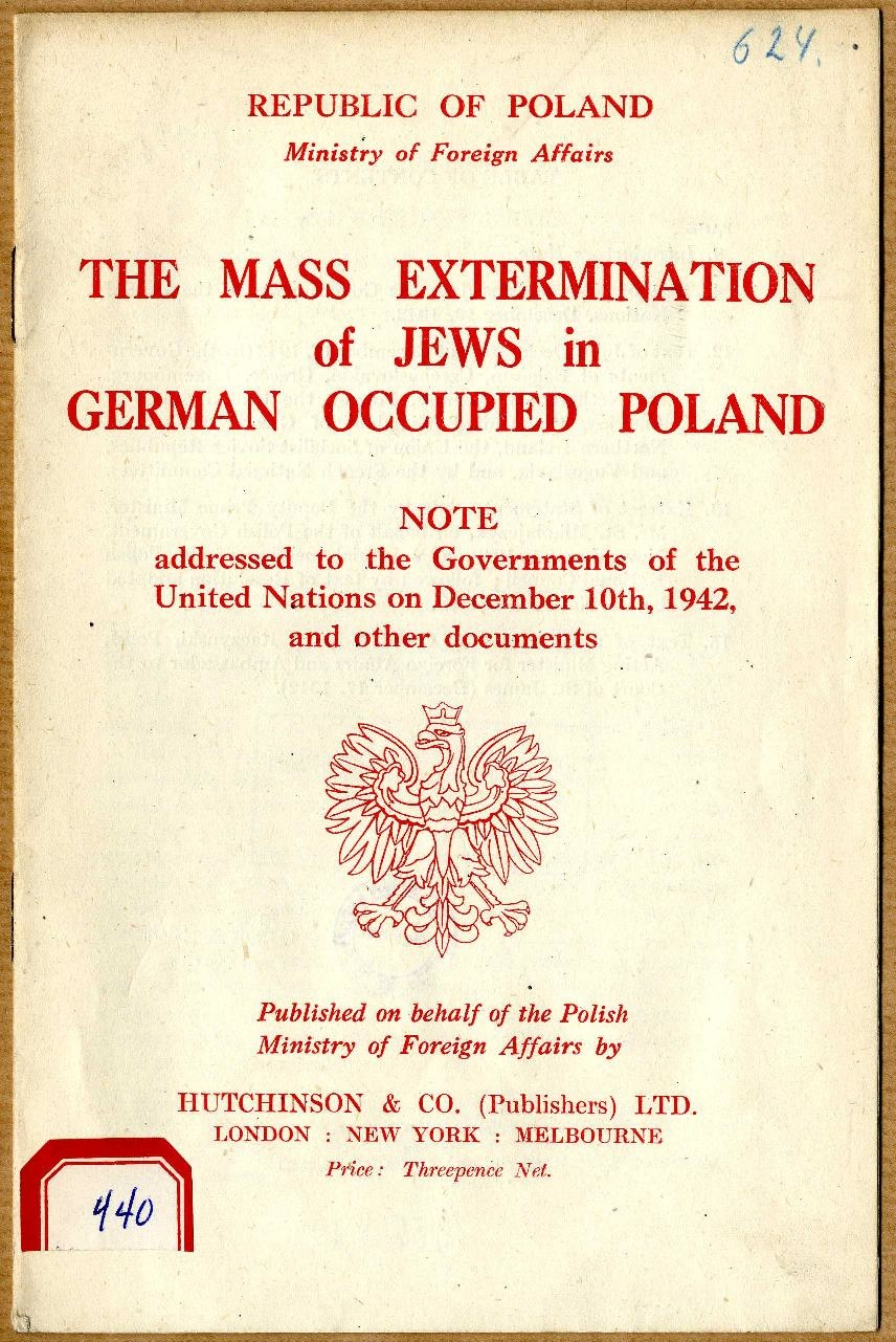 Government of the Republic of Poland, Ministry of Foreign Affairs MSZ, 1942