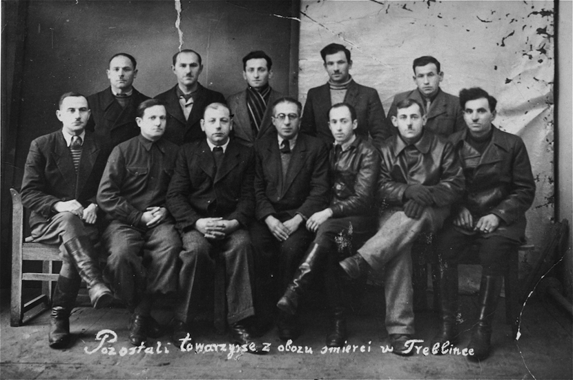 Group photo of participants in the Treblinka uprising.