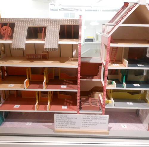 Anne Frank Model House, by Alexisrael [Public domain], via Wikimedia Commons.