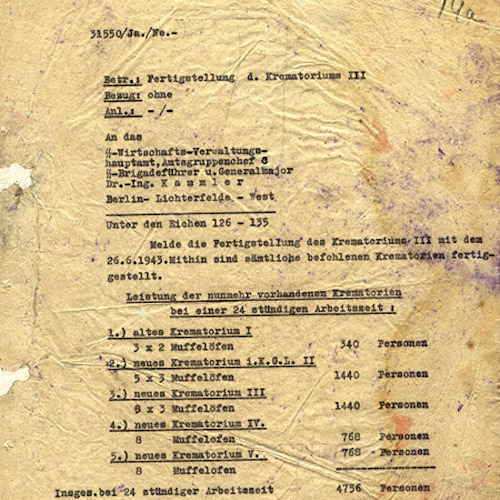 Auschwitz-Birkenau Crematoria: German Documents on Ovens