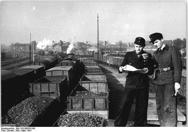 Coke shipments. Bundesarchiv, Bild 183-N0624-344 / Otto Donath / CC-BY-SA 3.0 [CC BY-SA 3.0 de (http://creativecommons.org/licenses/by-sa/3.0/de/deed.en)], via Wikimedia Commons.