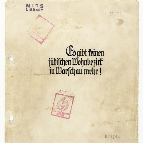 Cover of Stroop Report. By Unknown Jürgen Stroop [Public domain, Public domain, Public domain, Public domain or Public domain], via Wikimedia Commons.