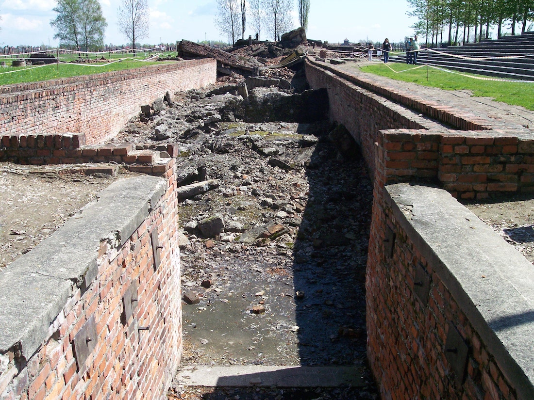 Entrance to Crematorium III Auschwitz II (Birkenau)