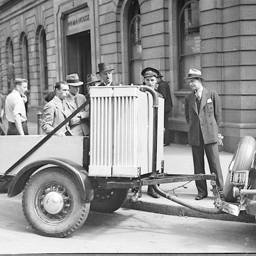 Gas producer vehicle, 1940. Sam Hood [Public domain or Public domain], via Wikimedia Commons courtesy of  collections from the State Libraries of NSW.
