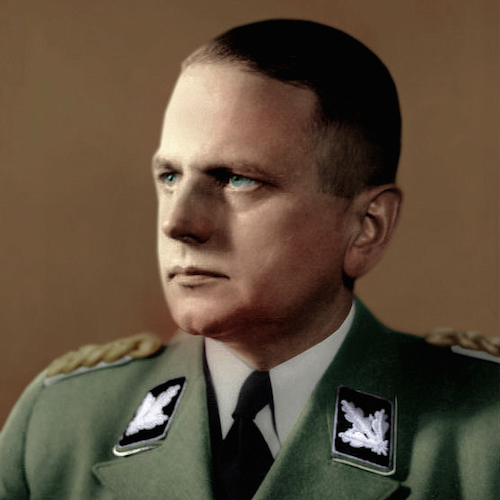 Otto Ohlendorf. By Photographer: Schwarz; Colors added by Tzo15 [CC BY-SA 3.0 (http://creativecommons.org/licenses/by-sa/3.0)], via Wikimedia Commons.